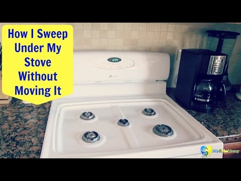 How To  Sweep & Clean Under Your Stove Without Moving It