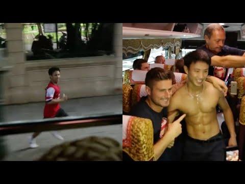 El vietnamita que consiguió subirse al autobús del Arsenal con sus ídolos