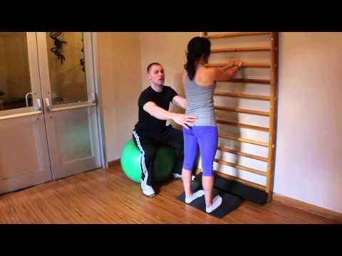 Slant Board Calf Stretch (Gastrocnemius, Soleus & Peroneals)