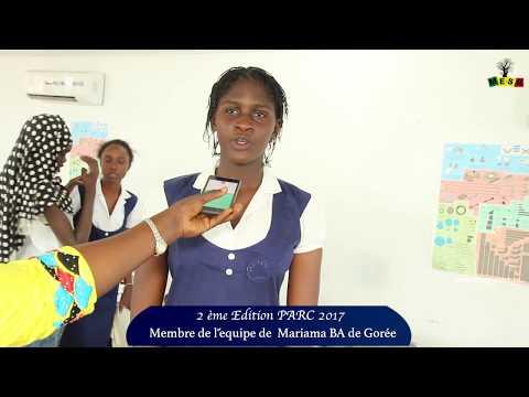 2e Edition PARC 2017: Membre de l'équipe de la Maison d'Education Mariama BA de Gorée