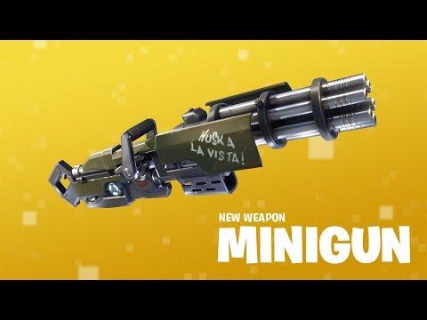 New Weapon: Minigun