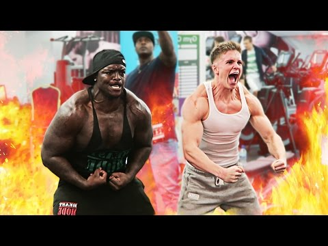 Joe Weller Vs Akinfenwa | GYM CHALLENGE (видео)