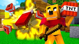 """Trolling """"PROS"""" in Minecraft Bed Wars with TNT"""