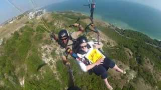 Balchik Bulgaria  city pictures gallery : My mom paragliding in Balchik, Bulgaria
