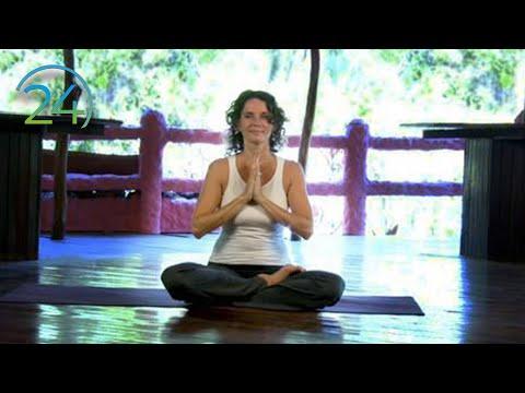 Yoga Morning Heart Expanding Practice ~ Intermediate Yoga Class ~ Full Length 49 minutes