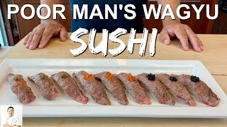 Poor Man's Wagyu Sushi | World's Best Hidden Secret by Diaries of a Master Sushi Chef