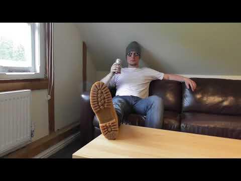 TRAILER: Brown Timberland Boot Worship with Grey Socks