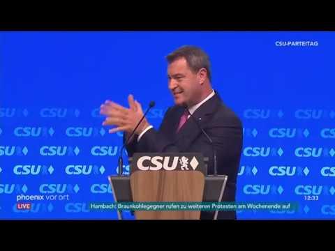 CSU Parteitag: Rede von Markus Söder (Spitzenkandidat ...