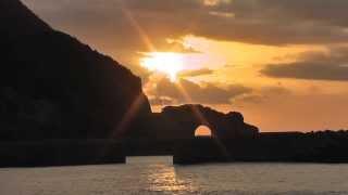 Tatsugo Japan  city images : Sunset of Japan Amami Oshima dragon eye (bend over if Na tunnel)奄美大島 龍の目(かがんばなトンネル)の夕