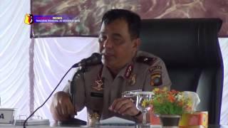 POLDA BANGKA BELITUNG GELAR RAPAT KERJA TRIWULAN II TAHUN 2016 DI BELITUNG