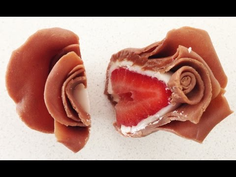 bouquet di rose al cioccolato