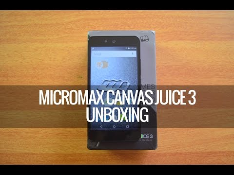 Micromax Canvas Juice 3 (Q392) Unboxing and Hands on