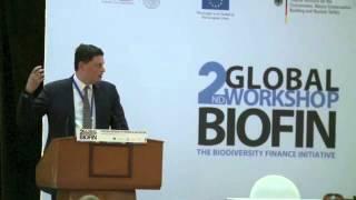 2nd Global Biodiversity Workshop: Keynote Speech by Nik Sekhran, UNDP Director of Sustainable Development. Mr. Nik Sekhran explianed BIOFIN was ...