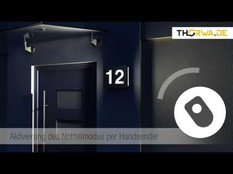 Hausnummer der Zukunft aus Edelstahl - LED Technik - einfache Montage