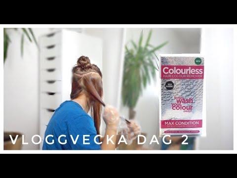 Vloggvecka dag 2  - AVFÄRGAR HÅRET IGEN MED COLOURLESS