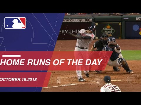 Video: Home Runs of the Day - October 18, 2018