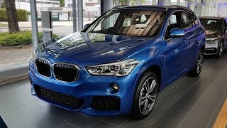 """Hello and welcome to BMW.view. In this video we review the interior and exterior of the 2017 BMW X1 xDrive25d Modell M Sport. Produced in 4K. Facebook: https://www.facebook.com/pages/BMWview/860051290681663?ref=hlsubscribe -[BMW.view]- here: https://www.youtube.com/channel/UCuZoR8ZNgfPKBaPMPryyD1gMotor/engine: 170 KW/1995 ccmLackierung: Estoril Blau metallicPolster: Stoff Micro Hexagon/Alcantara AnthrazitFelgen: 19"""" M LMR Doppelspeiche 572 M BicolorLicht: LED-Scheinwerfer mit AbbiegelichtGrundpreis: 42.200 ,00 EURPakete: 6.940,00 EURSonderausstattung: 7.650,00 EURTronsportkosten: 750,00 EURGesamtpreis = 57.540,00 EURPakete: M Sportpaket, Modell M Sport, Convenience Paket, BusinessPackage, Sonderausstattungmusic:NirvanaVEVO von Chris Zabriskie ist unter der Lizenz Creative Commons Attribution license (https://creativecommons.org/licenses/by/4.0/) lizenziert. Quelle: http://chriszabriskie.com/uvp/ Interpret: http://chriszabriskie.com/ Babylon - Disco Ultralounge von Kevin MacLeod ist unter der Lizenz Creative Commons Attribution license (https://creativecommons.org/licenses/by/4.0/) lizenziert. Quelle: http://incompetech.com/music/royalty-free/index.html?isrc=USUAN1100314 Interpret: http://incompetech.com/"""