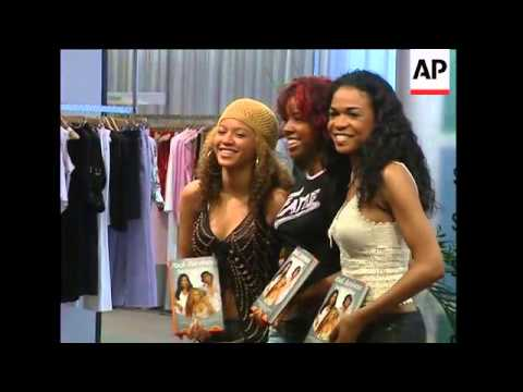 Destiny's Child come to London to sign their autobiography