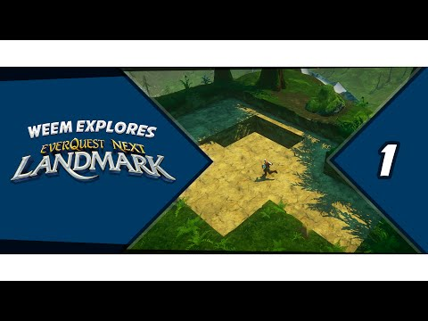 Everquest Next Landmark, Building Gameplay, Episode 1