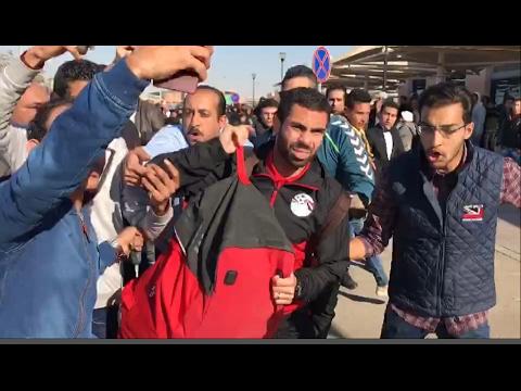 استقبال الجماهيرلـ «الحضري وفتحي» بمطار القاهرة