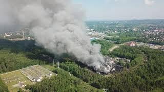 Film do artykułu: Potężny pożar w Trzebini....