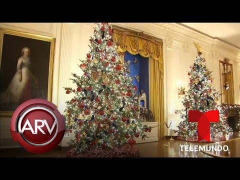 Melania Trump revela la impresionante decoración navideña de la Casa Blanca | Telemundo