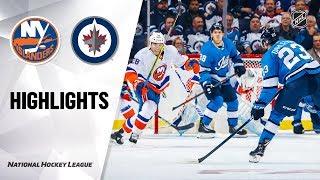 Islanders @ Jets 10/17/19 Highlights by NHL