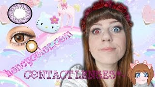 HONEYCOLOR.COM Contact Lense haul*~ - YouTube