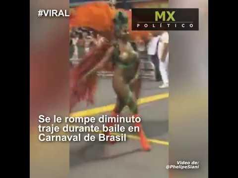 ¡Al aire! Así quedó bailarina al romper traje en Río (VIDEO)