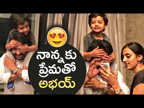 Abhay Ram Special & Surprising Birthday Wishes To Jr NTR   Super Cute