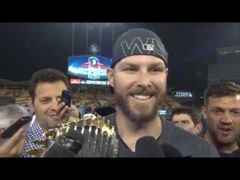 Video: Chris Sale 2018 World Series On Field Celebration Interview
