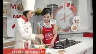 Món Ngon Mỗi Ngày - Cá hồi cuộn măng tây