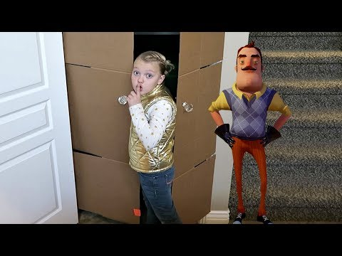 HELLO NEIGHBOR IN A BOX FORT MANSION! (видео)