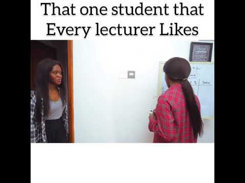 Maraji's comedy _ that one student every lecturer likes.