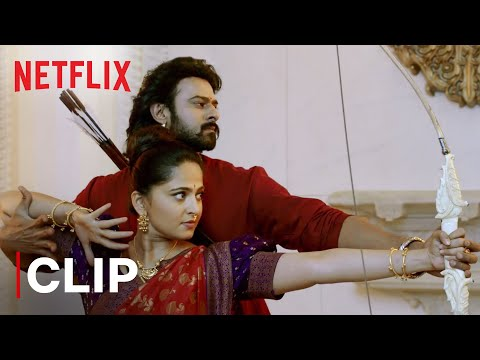 Baahubali and Devasena Arrow Fight Scene | Baahubali 2: The Conclusion | Netflix India