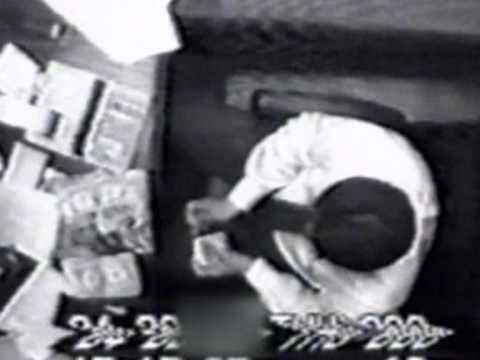 Caught clerk - busted on cctv taking money paid in fines