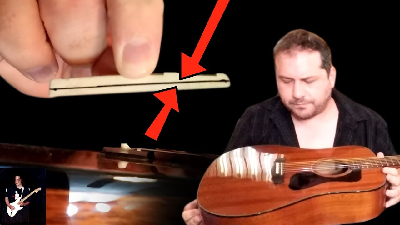 How To Lower The Strings On A Acoustic Guitar