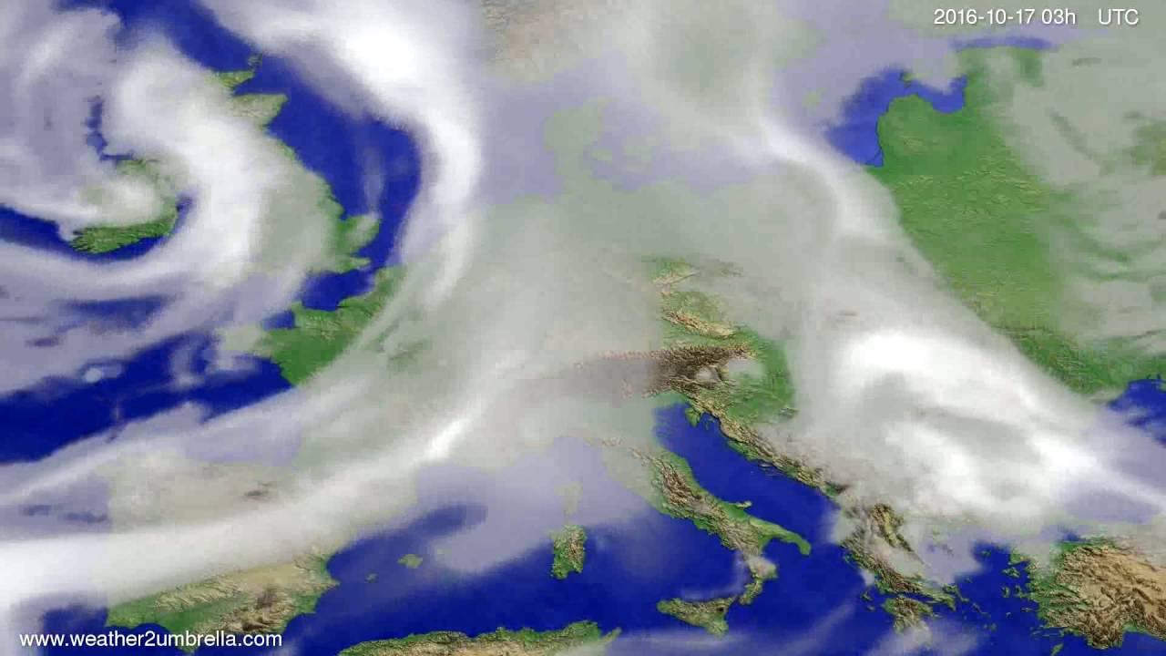 Cloud forecast Europe 2016-10-14