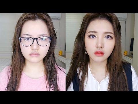 這位韓國人氣美妝部落客示範了「變臉等級的化妝術」,靠這幾個步驟馬上從居家宅女變成亮眼大明星了!