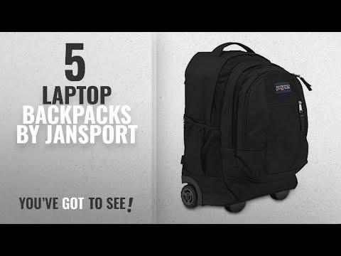 Top 10 Jansport Laptop Backpacks [2018]: JanSport Driver 8 Core Series Wheeled Backpack(Black)