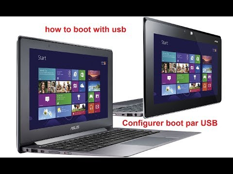 Faire booter une clé USB sur ASUS TAICHI21 NOTEBOOK PC