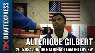 Alterique Gilbert 2015 USA Basketball Mini-Camp Interview