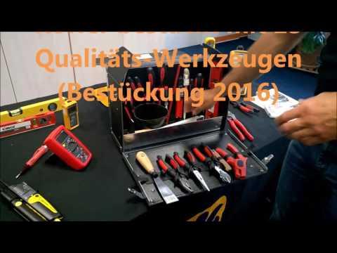 Lehrlingskoffer Cimco 170300 Azubikoffer Elektriker Werkzeugkoffer Mechatroniker Lehrlingskoffer