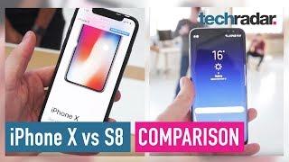 Video iPhone X Vs Samsung Galaxy S8 hands-on comparison MP3, 3GP, MP4, WEBM, AVI, FLV November 2017