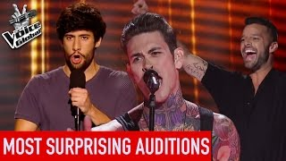 Video The Voice | TOP 5 MOST SURPRISING Blind Auditions [PART 2] MP3, 3GP, MP4, WEBM, AVI, FLV September 2018