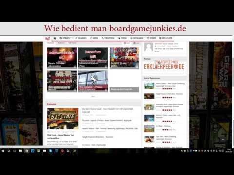 Erklärung der Funktionen von Boardgamejunkies.de