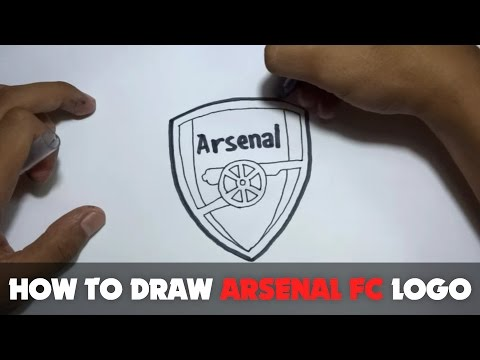 How To Draw A Cartoon - Arsenal FC Logo (Tutorial Step By Step)