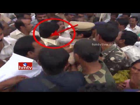 Exclusive Visuals of TDP Minister Kollu Ravindra Attacks on Sarpanch