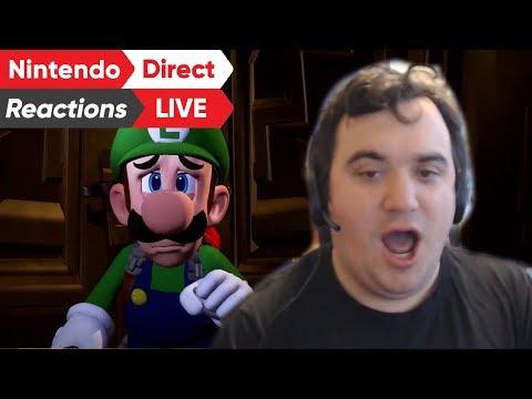Luigi's Mansion 3: Nintendo Direct Live Reaction (видео)