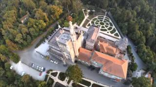 Luso Portugal  city pictures gallery : Bussaco Palace Hotel ( Luso - Portugal ) a vista de drone